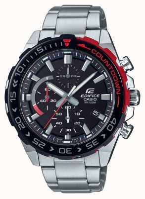 Casio | строительный хронограф | браслет из нержавеющей стали | черный циферблат EFR-566DB-1AVUEF