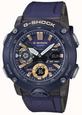 Casio | углеродное ядро G-Shock мирового времени | синий резиновый ремешок | GA-2000-2AER