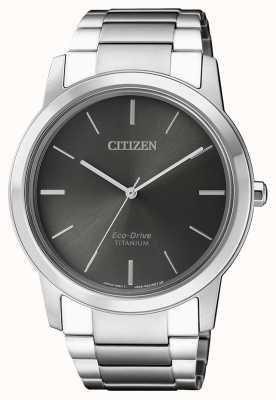 Citizen | мужской эко-драйв титан wr50 | серый циферблат | AW2020-82H