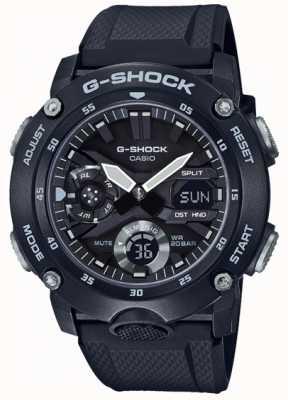 Casio | Углеродный сердечник G-Shock | черный резиновый ремешок | GA-2000S-1AER