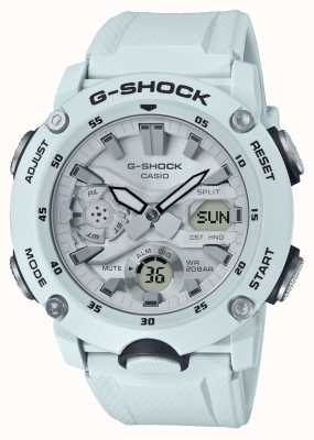 Casio | Углеродный сердечник G-Shock | белый резиновый ремешок | GA-2000S-7AER
