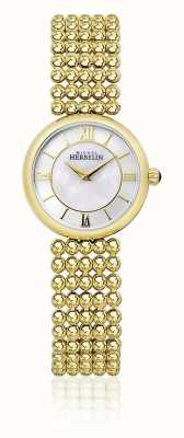 Michel Herbelin | женская одежда | золотой браслет | перламутровый циферблат | 17483/BP19