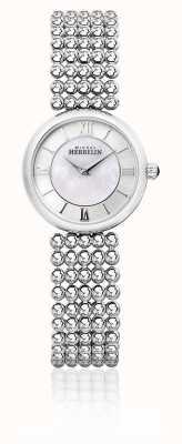Michel Herbelin | женский перл | серебряный браслет | перламутровый циферблат | 17483/B19