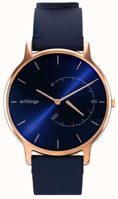 Withings Move вневременной шик - синяя кожа, розовое золото HWA06M-TIMELESS CHIC-MODEL 3-RET-INT
