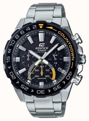Casio | здание солнечное | браслет из нержавеющей стали | черный циферблат | EFS-S550DB-1AVUEF
