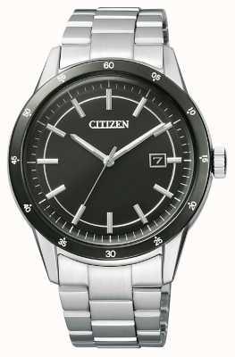 Citizen | мужской эко-драйв | браслет из нержавеющей стали | черный циферблат | AW1164-53E