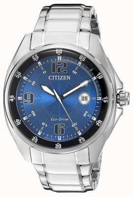 Citizen | мужской эко-драйв | синий циферблат | браслет из нержавеющей стали | AW1510-54L