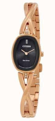 Citizen | женский силуэт эко-драйв | браслет золотого тона | EX1413-55E