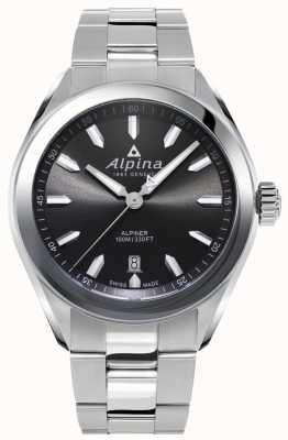 Alpina | мужской альпинист | браслет из нержавеющей стали | серый циферблат | AL-240GS4E6B