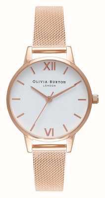Olivia Burton | женская | браслет из розового золота | белый циферблат | OB16MDW01