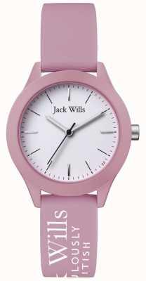 Jack Wills | женский союз | белый циферблат | розовый силиконовый ремешок | JW008PKWH