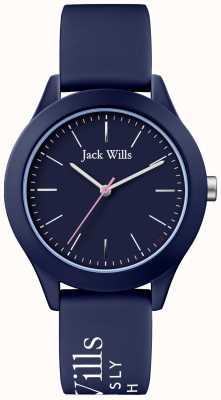 Jack Wills | женский союз | темно-циферблат | темно-синий силиконовый ремешок | JW009NVBL