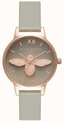 Olivia Burton | женская | 3d пчела | серый кожаный ремешок | OB15AM77