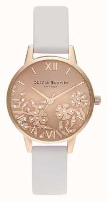 Olivia Burton | женская | украшенное драгоценными камнями кружево | кожаный ремешок румяна | OB16MV102