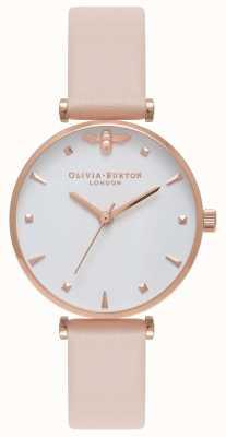 Olivia Burton | женская | королева пчел | кожаный ремешок nude peach t bar | OB16AM95