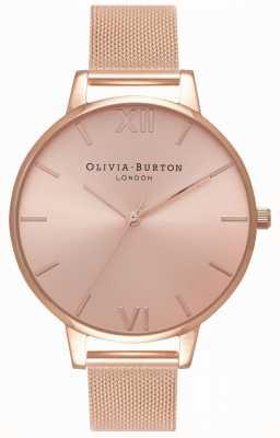 Olivia Burton | женская | большой солнечный циферблат | браслет из розового золота | OB16BD102