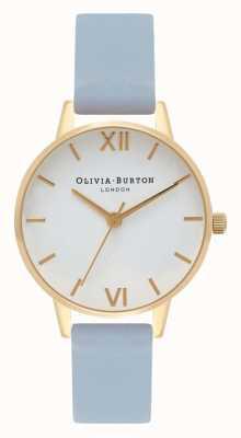 Olivia Burton | женская | мел синий ремешок | белый циферблат | OB16MDW24