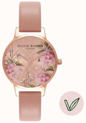 Olivia Burton | женская | цветочный циферблат | ремешок из розового веганского песка | OB16VE02