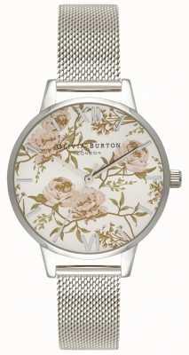 Olivia Burton   женская   салон пион цветочный   сетка из нержавеющей стали OB16PL33