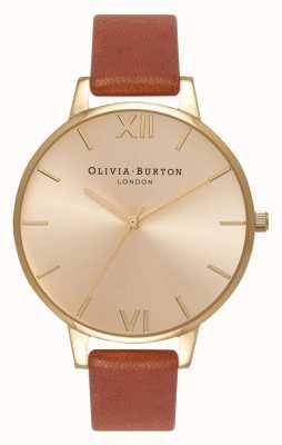 Olivia Burton | женская | солнечный луч циферблат | коричневая кожа | OB13BD09