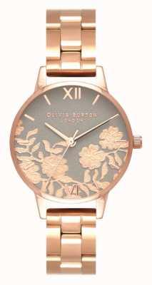 Olivia Burton | женская | циферблат с кружевной отделкой | браслет из розового золота | OB16MV88