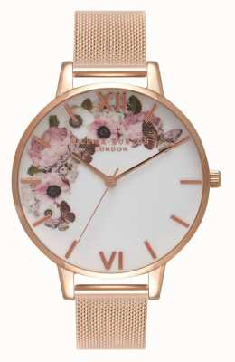 Olivia Burton | женская | фирменный цветочный циферблат | браслет из розового золота | OB16WG18