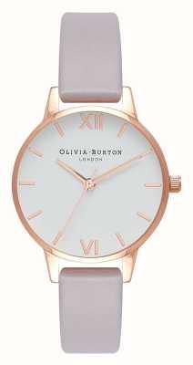 Olivia Burton | женская | серый сиреневый ремешок | белый циферблат | OB16MDW32