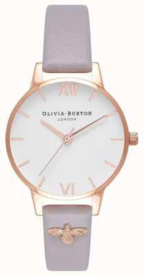 Olivia Burton | женская | 3d пчела | ремень из серой лиловой кожи с отделкой | OB16ES11