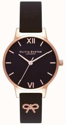Olivia Burton | женская | черный циферблат | винтажный бант черный ремешок | OB16VB07