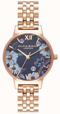 Olivia Burton | женская | украшенные драгоценностями цветы | браслет из розового золота | OB16BF17