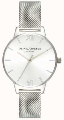Olivia Burton | женская | солнечный миди-циферблат | браслет из стальной сетки | OB16MD86