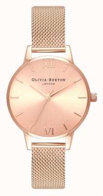 Olivia Burton | женская | миди | солнечный луч циферблат | браслет из розового золота | OB16MD84