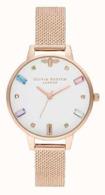 Olivia Burton | женская | радужная пчела | букет из розового золота с сеткой | OB16RB15