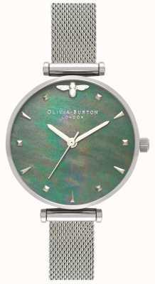 Olivia Burton | женская | королева пчел | жемчужина | браслет из стальной сетки | OB16AM151