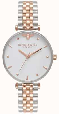 Olivia Burton | женская | королева пчел | двухцветный т барный браслет | OB16AM93