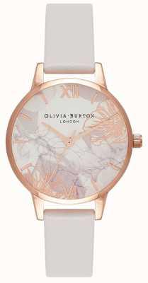 Olivia Burton | женская | абстрактные цветочные | румяна кожаный ремешок | OB16VM12