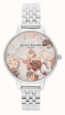 Olivia Burton | женская | мраморные цветы | браслет из нержавеющей стали | OB16CS31