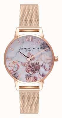 Olivia Burton | женская | мраморные цветы | браслет из розового золота | OB16CS06