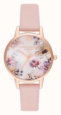 Olivia Burton | женская | цветочные солнечные лучи | пыльный розовый кожаный ремешок | OB16EG115
