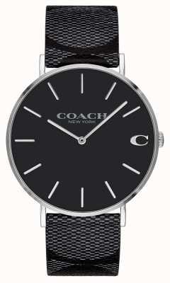 Coach | мужские | подпись | Чарльз | черная кожа | 14602157
