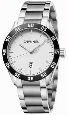 Calvin Klein | конкурировать | мужские | браслет из нержавеющей стали | белый циферблат | K9R31C46