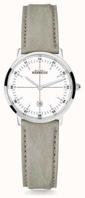 Michel Herbelin | городской кварц | женская | бежевый кожаный ремешок | белый циферблат | 16915/12LKN
