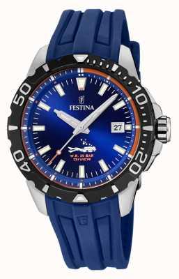 Festina | мужские водолазы | синий резиновый ремешок | синий циферблат | F20462/1
