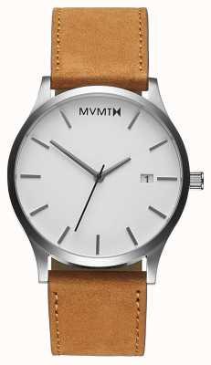 MVMT Классический белый загар | коричневый кожаный ремешок | белый циферблат D-L213.1L.331