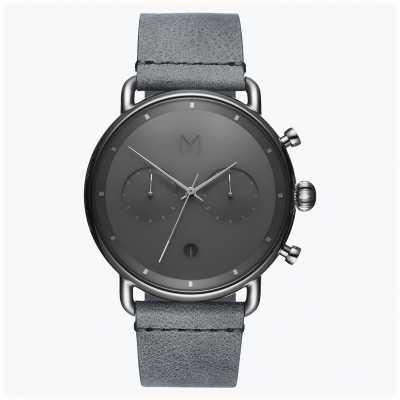 MVMT Серебряный туман на щебне | серый кожаный ремешок | серый циферблат D-BT01-SGR