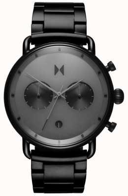 MVMT | черный звездный свет | черный браслет из пвд | серый циферблат | D-BT01-BB