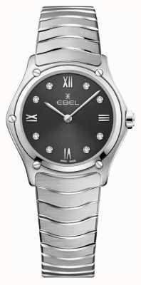 EBEL Классика женского спорта | серый циферблат | алмазный набор | нержавеющий 1216416A