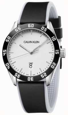 Calvin Klein | мужские | конкурировать | черный резиновый ремешок | серебряный циферблат | K9R31CD6