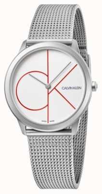 Calvin Klein | минимальный | браслет из нержавеющей стали | серебряный циферблат | K3M52152
