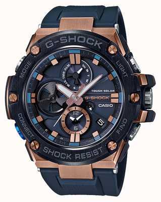 Casio | г-шок | стальная сталь | блютуз | хронограф | синий | GST-B100G-2AER
